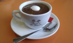 Hot chocolate at Piccolo Bar